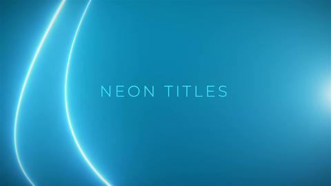 Neon Titles After Effects Template
