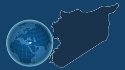 Syria and Globe. Solids Animation
