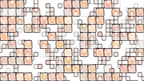 Colorful Squares Background Animation - Loop Orange Animation