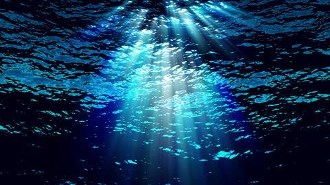 Underwater light filters down through blue water - Water FX0304 HD, 4K CG動画