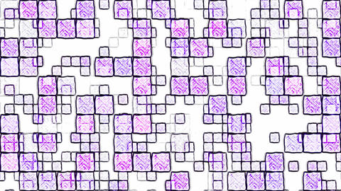 Colorful Squares Background Animation - Loop Purple Animation