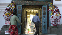 Museum closed on Durbar square,Kathmandu,Nepal Footage