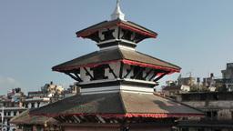 Temple roof on Durbar square ,Kathmandu,Nepal Footage