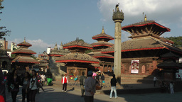 People walking on Durbar Square,low angle,Kathmandu,Nepal Footage
