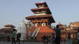 Temple at Durbar square,Kathmandu,Nepal Footage