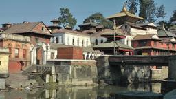 Temples and river,Kathmandu,Nepal Footage