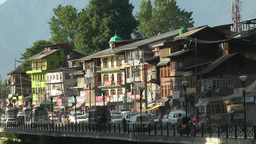 Busy street ,Srinagar,India Footage