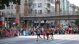Spectators And Runners At Berlin Marathon 2018 In Berlin, Germany Footage