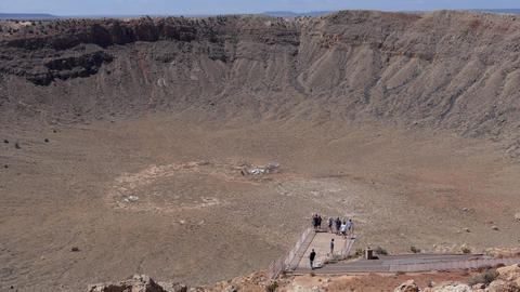 People At Meteor Crater Arizona United States Of America Footage