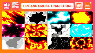 Fire And Smoke Transitions After Effects Template