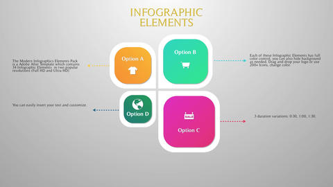 Modern Infographic Elements After Effects Template