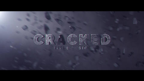 Cracked Title Design After Effects Template