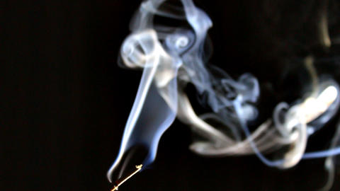 Smoke Rises from Incense 2 Footage