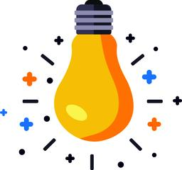 Electric Idea Lightbulb icon ベクター