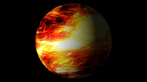 Fast Boiling Orange Red Brown Planet Sun Globe Alpha 1 Animation