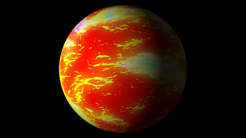 Fast Boiling Orange Red Brown Planet Sun Globe Alpha 2 Animation
