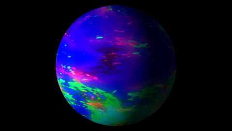Fast Boiling Blue Colorful Planet Sun Globe Alpha 1 Animation