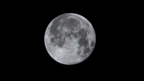 Full moon night - 1/3 of the screen ビデオ