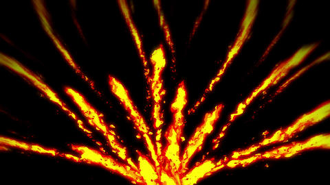 Fire lightning animation, Cartoon comic animation, Flame loop background Animation