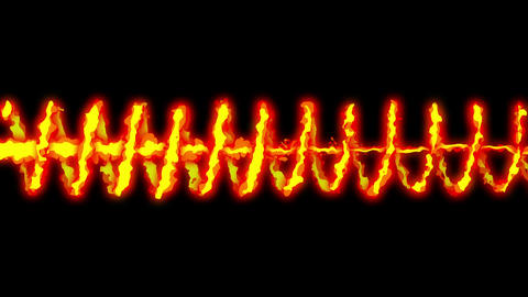 Fire lightning animation, Cartoon comic animation, Flame loop background CG動画