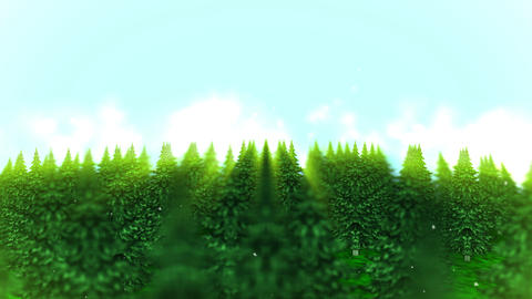 Forest landscape illustration, Abstract nature background, Loop animation Animation