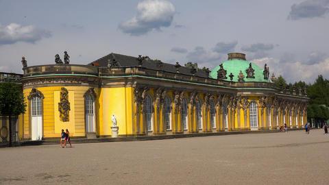 Palace of Sanssouci in Potsdam. 4K Live Action