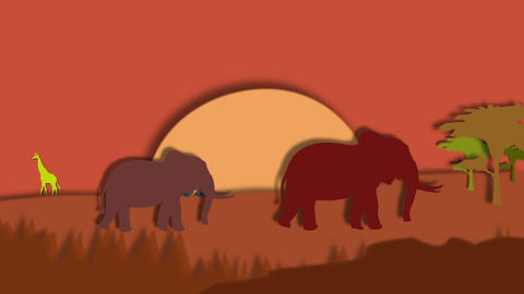 Africa safari animation Animation