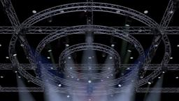 TV Studio Stage Truss and Lights 3D Model