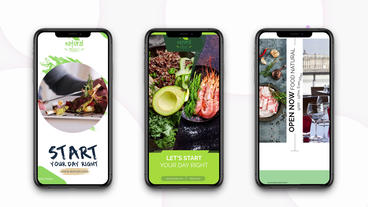 Instagram Stories: Healthy Food After Effects Template