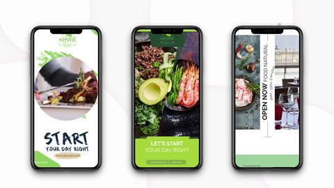 Instagram Stories: Healthy Food Plantilla de After Effects