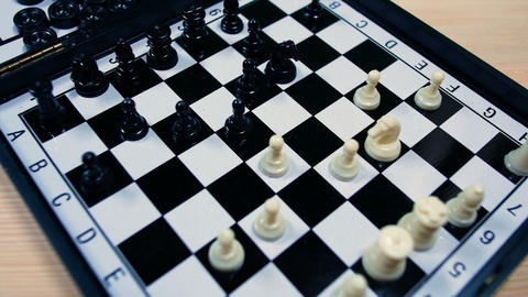 footage of a chess game, footage ideal for representing strategy, violence and Live Action