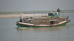 Boat on Irrawaddy ferry to Bhamo,Irrawaddy,Burma Footage