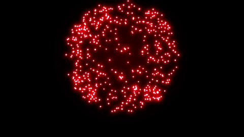 Firework Display in loop-able beautiful 3d animation. Outburst majestic show. HD Animation