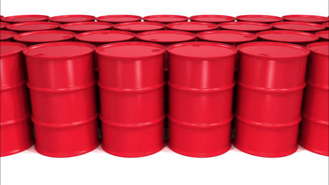 Endless Rows of Oil Barrels. Looped Business and Technology Concept 3d animation Animation