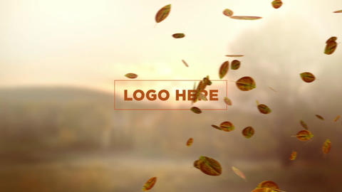 Leaves logo reveal After Effects Template