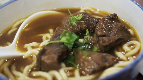 Taiwanese, Chinese Beef noodle Footage