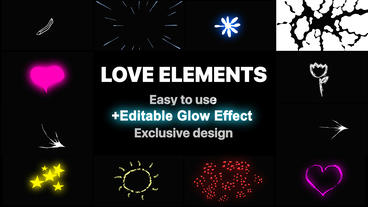 Love Elements Motion Graphics Template