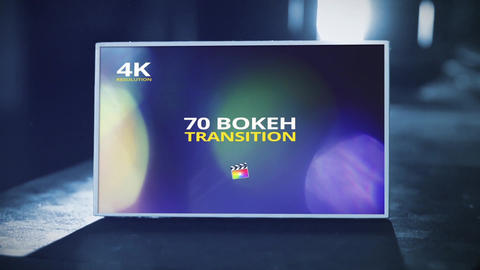 70 Bokeh Transition for Final Cut X Plantilla de Apple Motion