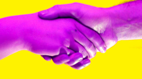hand of teenager and a man make peace gesture, hands coloraticon pop colors Live Action