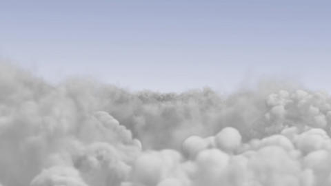 Flying above the clouds on a sunny day Animation