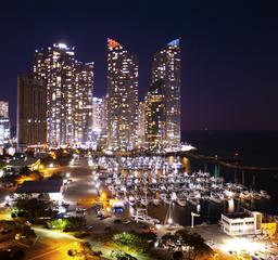 Busan marincity night view Photo