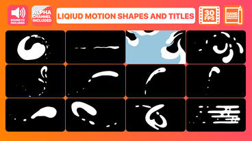 Liquid Motion Shapes And Titles After Effects Template