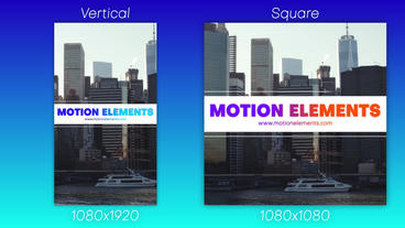 Event Promo Vertical & Square After Effectsテンプレート