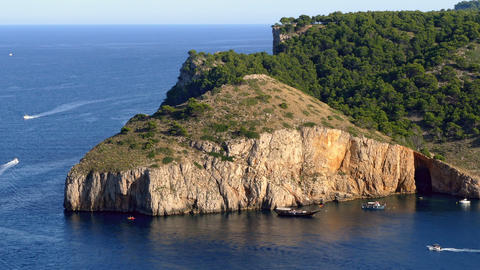 "Seascape of the ""COSTA BRAVA"" of Catalonia, Spain.Time lapse ビデオ"