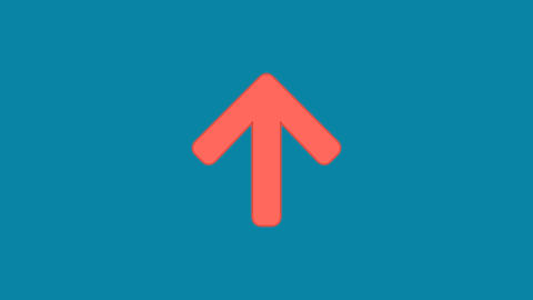 Behind the squares appears the symbol arrow up. In - Out. Alpha channel Animation