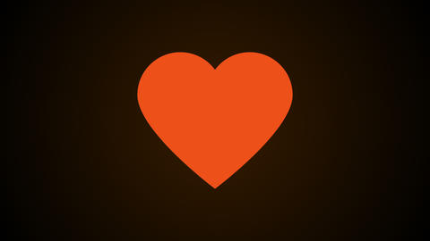 Simple heart, this is symbol of love, abstract 3d computer generated background Live Action