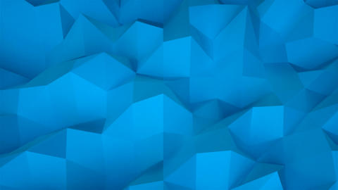 Simple low polygonal surface, computer generated modern abstract background, 3d Footage