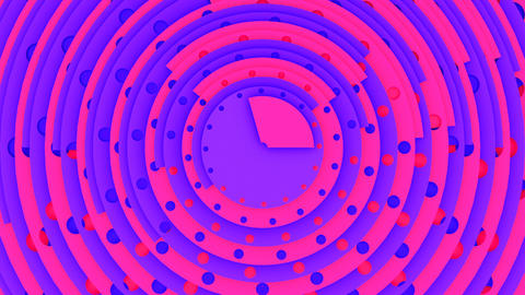 The hud circles 3d animation purple pink CG動画素材