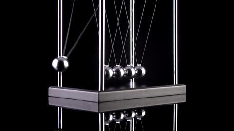 Newton's Cradle Slow Motion Footage