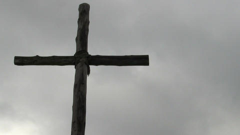 Christian Cross against Cloudy Sky GIF